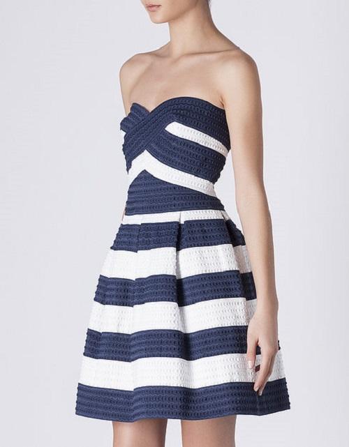 Complementos para vestido azul marino y blanco