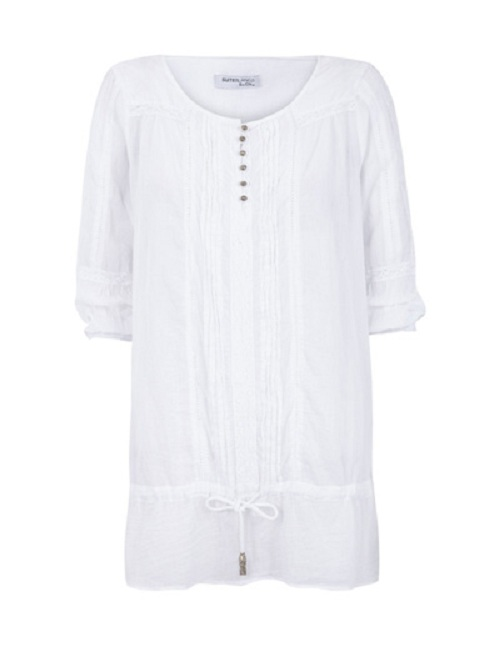 Viste cómoda este verano con las túnicas de Blanco